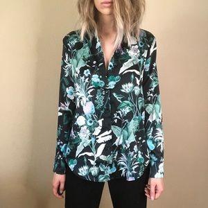 {Banana Republic} floral blouse